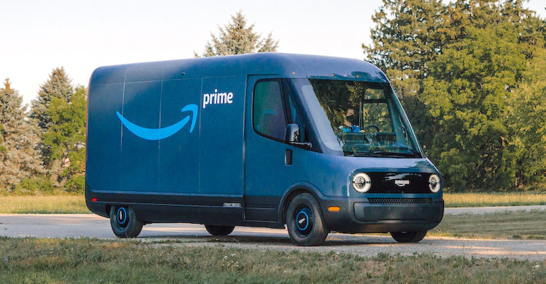 Amazon's Electric delivery vans