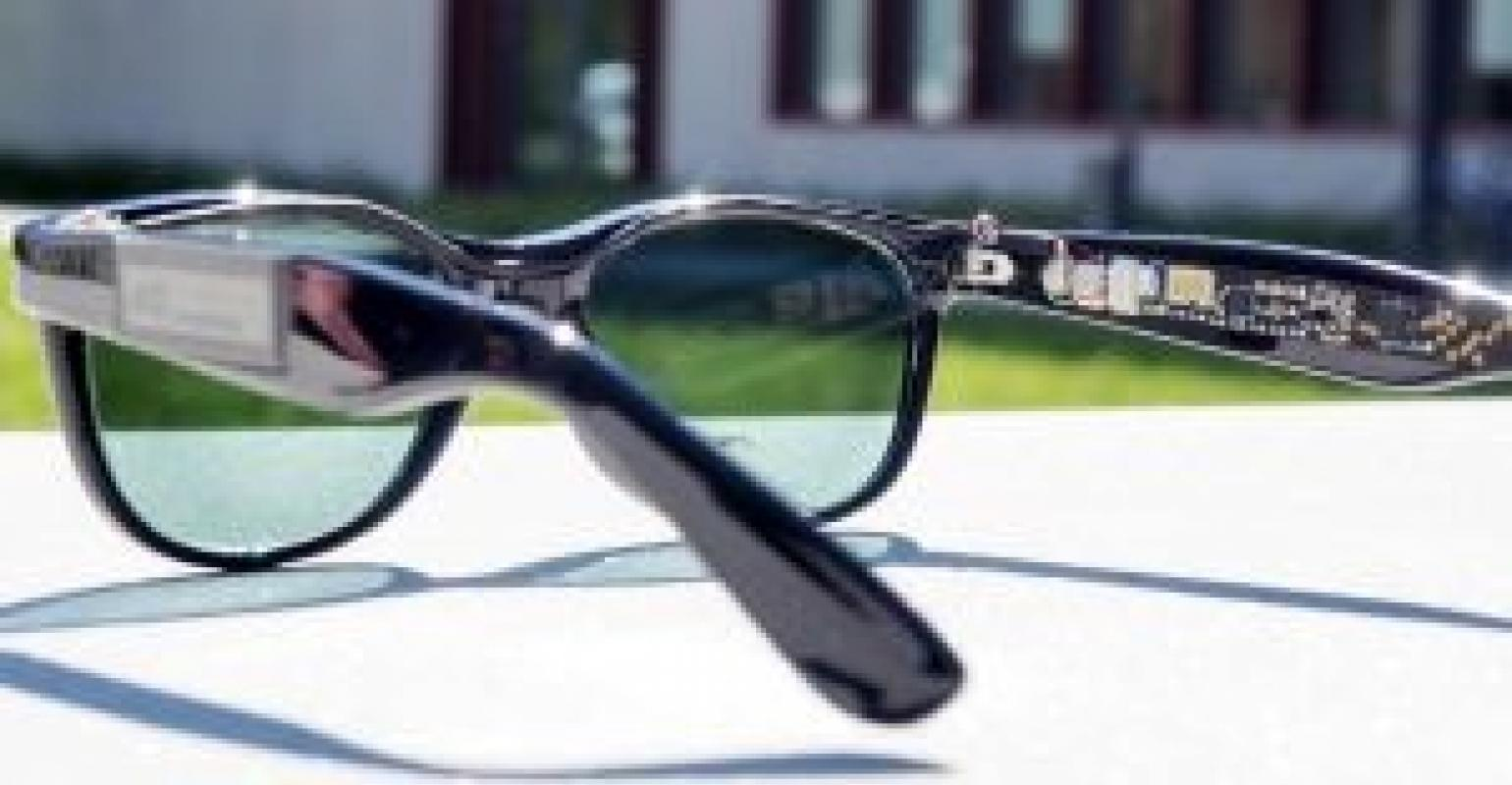 Solar Eyeglasses Used Sunlight to Power Integrated Microprocessor, Dis |  designnews.com