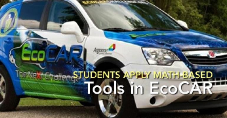 Students Apply Math-Based Tools in EcoCAR