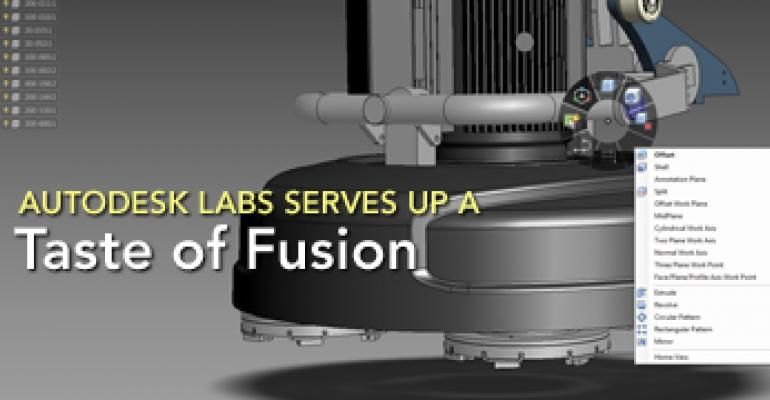 Autodesk Labs Serves up a Taste of Fusion