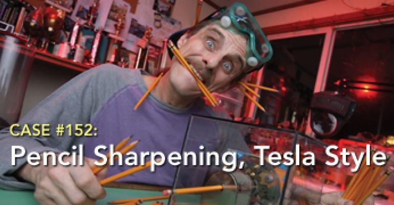 Gadget Freak Case #152: Tesla Turbine Puts Points on Pesky Pencils