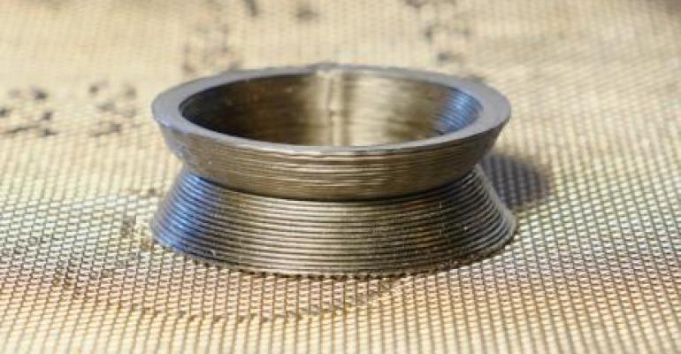 3D printed metallic glass