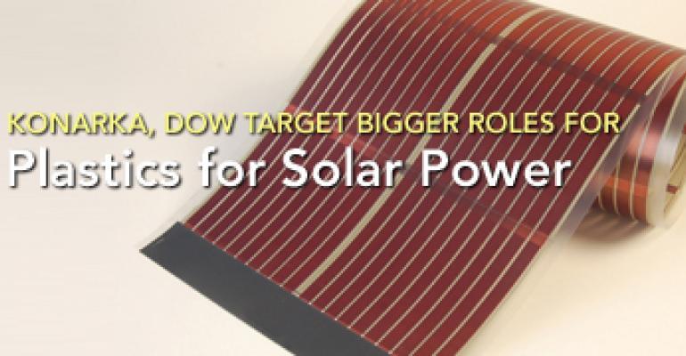 Konarka, Dow Target Bigger Roles for Plastics in Solar Power