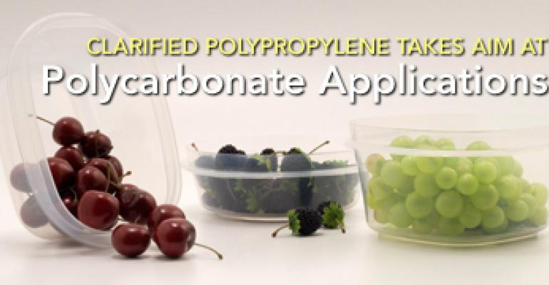 Clarified Polypropylene Takes Aim at Polycarbonate Applications