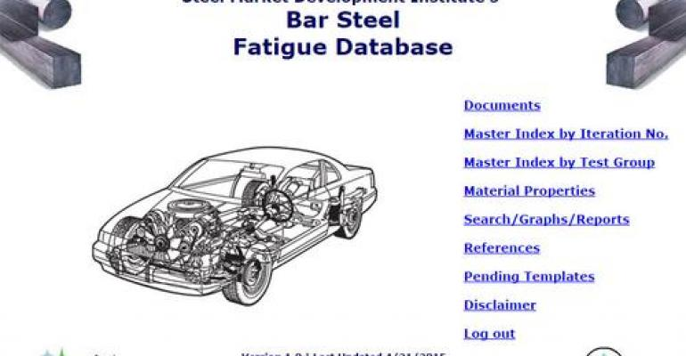 Updated Bar Steel Fatigue Database Has 134 Iterations