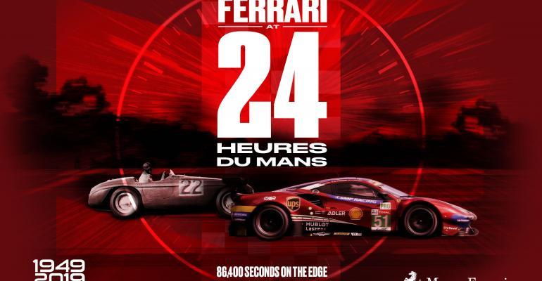 Ferrari Exhibits Its Side Of The 'Ford Vs Ferrari' Le Mans Drama