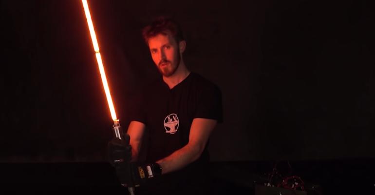 This DIY Lightsaber Cuts Through Metal