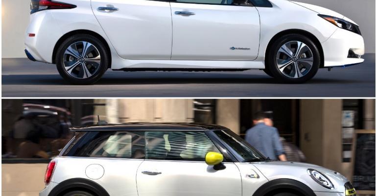 Nissan Leaf Plus and Mini Cooper SE Offer Alternative Visions of EV Driving