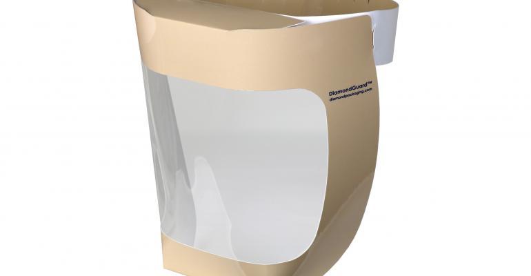 Diamond paper plastic face