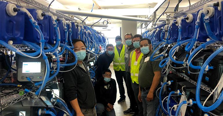 Velentium making ventilator test stands