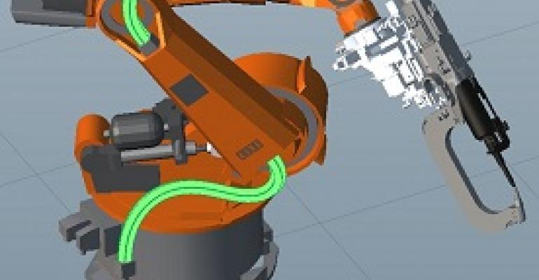 Siemens PLM, Kineo, robotics, cables