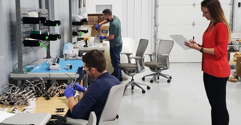 PMC tests ventilator assembly