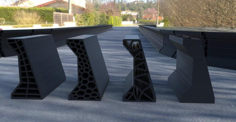 printed Jersey barriers