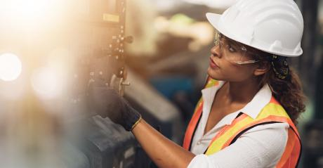 woman in manufacturing environment