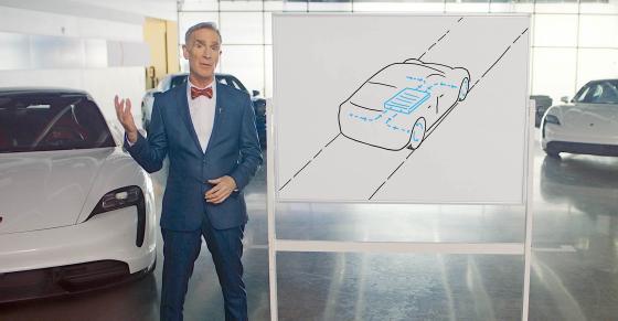 Bill Nye Explains the Porsche Taycan's Electric Tech in 5 Fun Videos