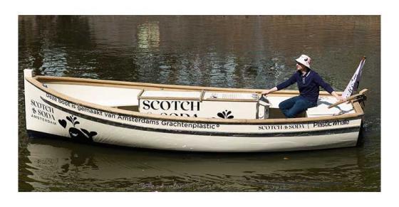 Waste Plastic Floats Scotch & Soda's Boat