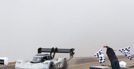 VW's electric racer smashes Pikes Peak Record