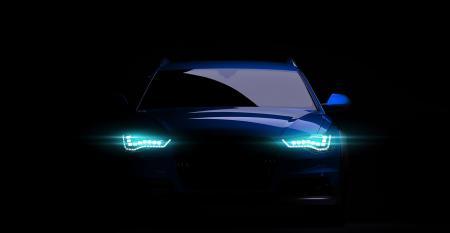 futuristic car headlamps